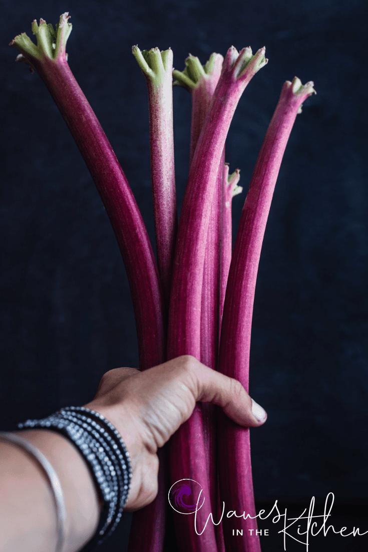 Gluten-Free Rhubarb Almond Cake Recipe | Waves in the Kitchen