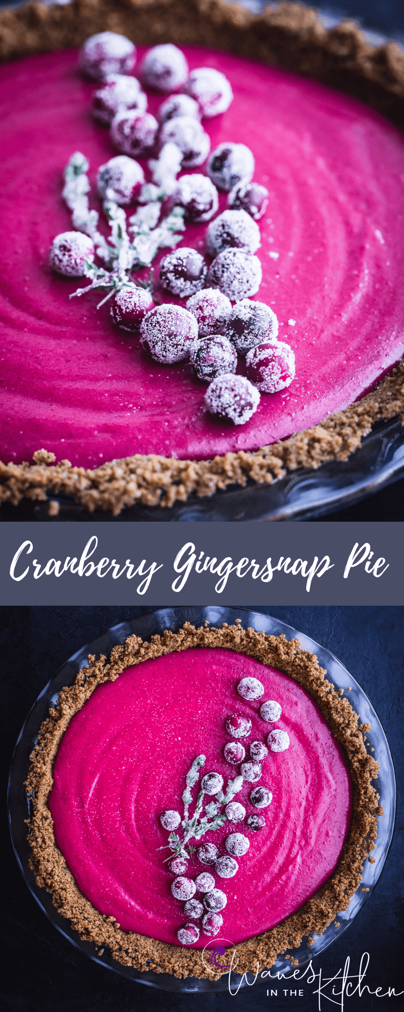 Cranberry Gingersnap Pie Recipe | Waves in the Kitchen