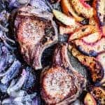 Pork Chops with Red Onions and Fruit Recipe | Waves in the Kitchen
