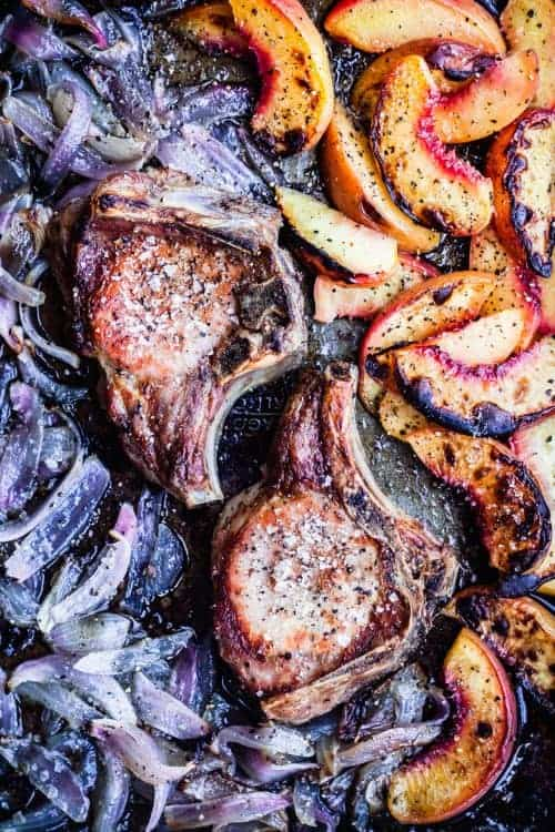 Pork Chops with Red Onions and Fruit Recipe   Waves in the Kitchen