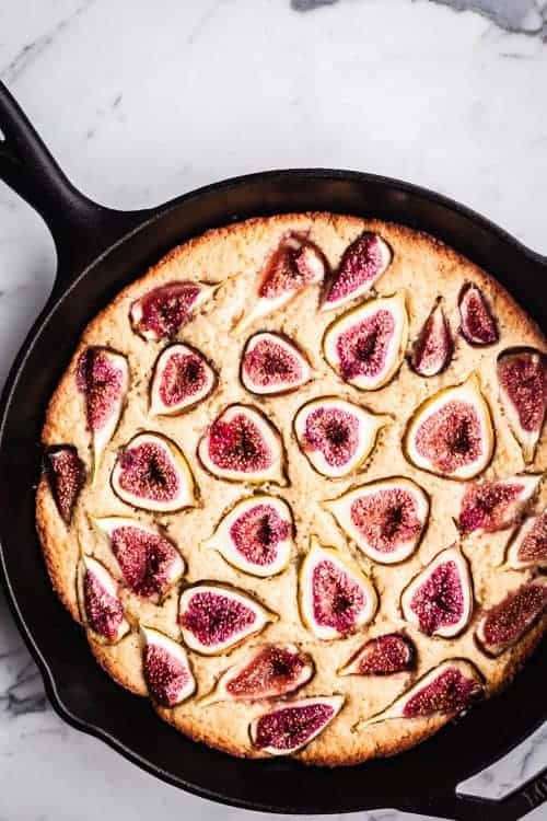 Fig Skillet Cake Recipe | Waves in the Kitchen