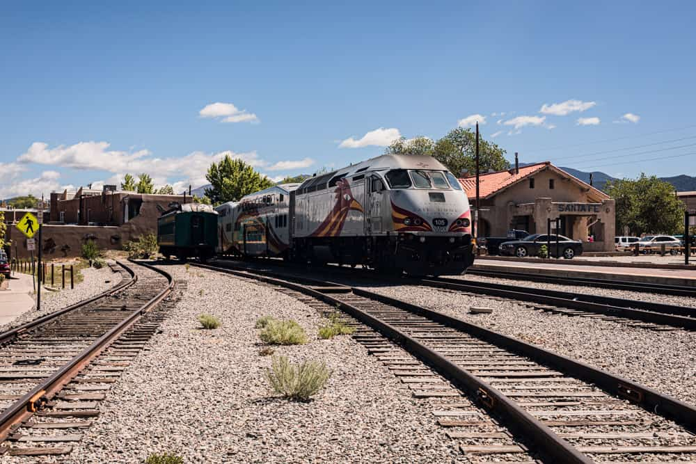the train at the Santa Fe Railyard.