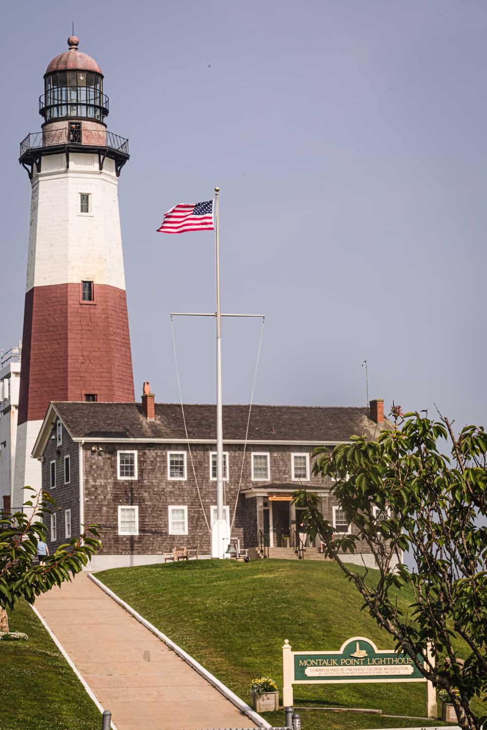 Montauk lighthouse, the End of the Hamptons, in Long Island, New York.