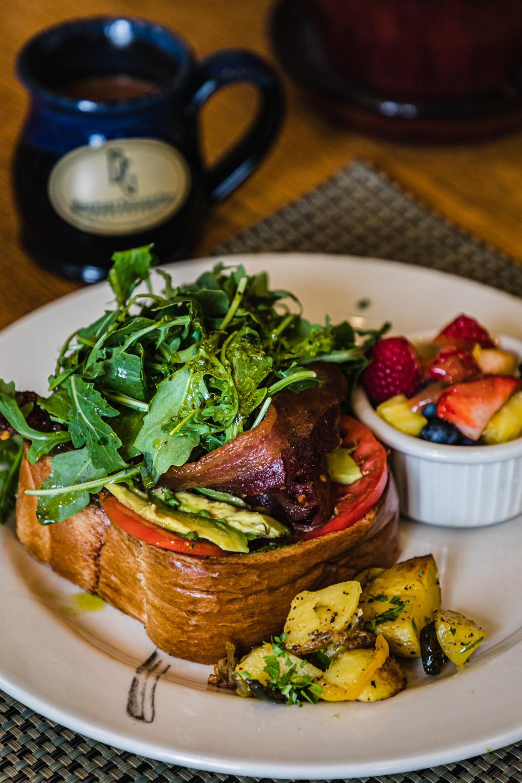 The open faced breakfast sandwich at Brewery Gulch Inn.