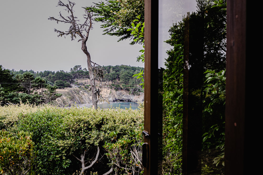 View of the Pacific Ocean as soon from the rooms at Brewery Gulch Inn.