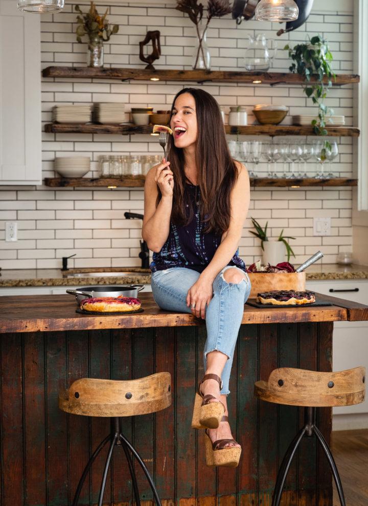 Chef Daniela Gerson eating ravioli in LA