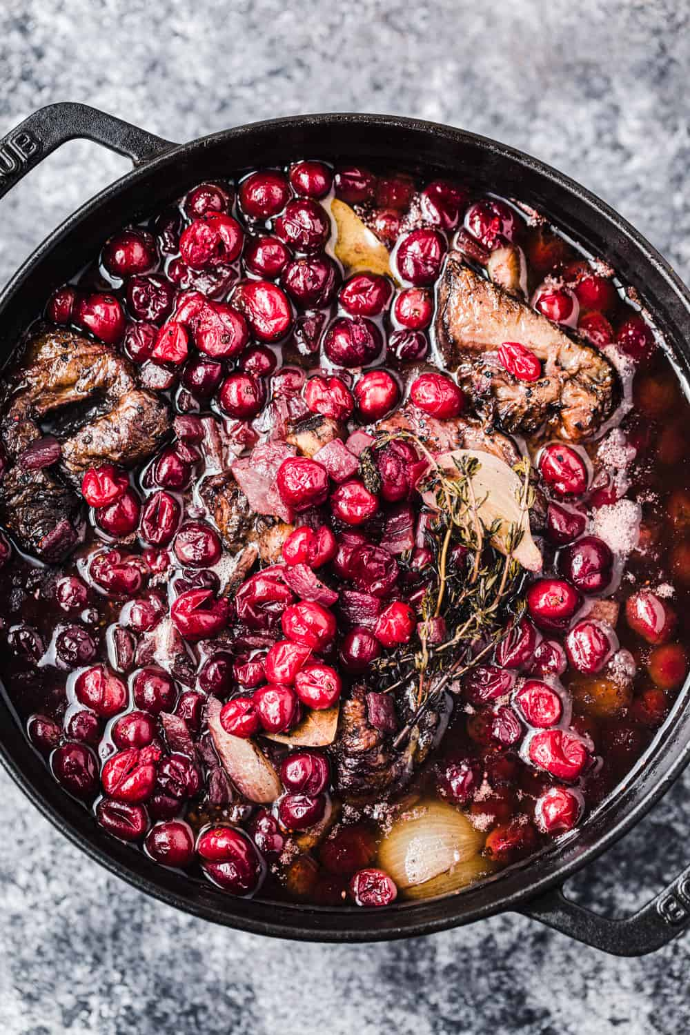 Fresh Cranberry and Red Wine Braised Short Ribs all done!